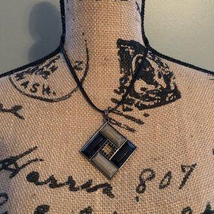 Lia Sophia Black Diamond Pendant Necklace